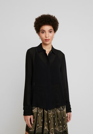 NICOLETTE - Button-down blouse - schwarz