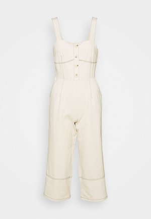 WIDE LEG BUTTON STITCH DETAIL - Jumpsuit - cream