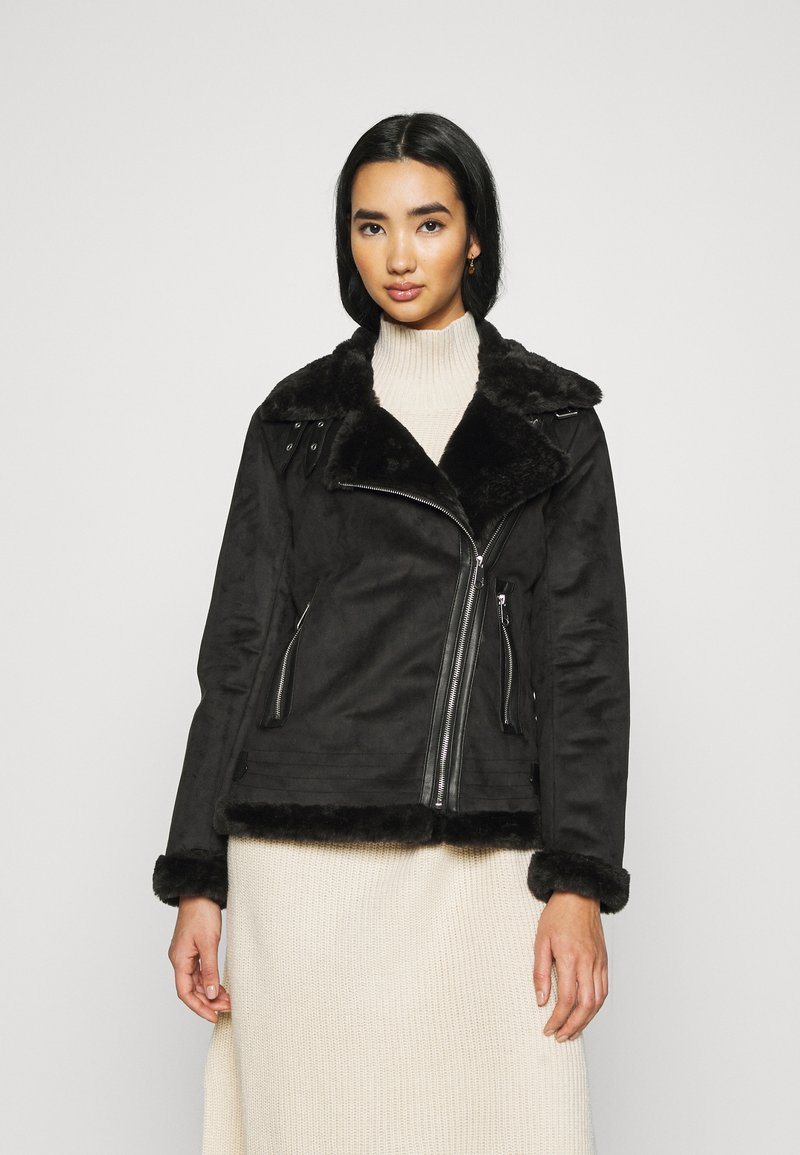 ONLY - ONLMARIA AVIATOR - Faux leather jacket - black