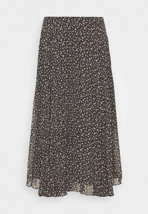 DELLA SKIRT - Áčková sukně - caviar