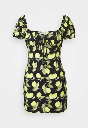 LEMON MINI DRESS - Day dress - black