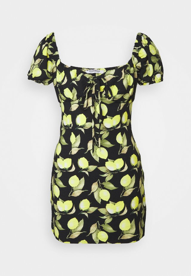 LEMON MINI DRESS - Denní šaty - black