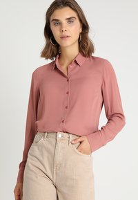 New Look - PLAIN LEAD - Button-down blouse - dusty pink - 0