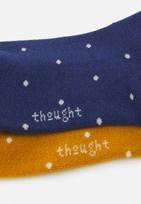 Thought - EUDORA SPOT SOCKS 2 PACK - Socks - mineral blue/sunflower yellow - 1