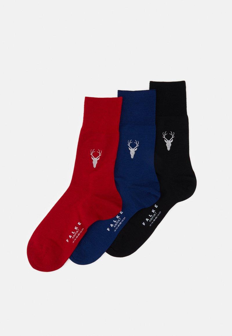 FALKE - 3 PACK - Socks - dark blue/bordeaux