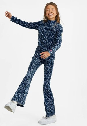 MET VELVET BLOEMENDESSIN - Long sleeved top - blue