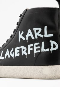 KARL LAGERFELD - SKOOL BRUSH LOGO  - Sneaker high - black - 2