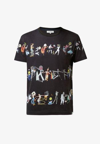 CAIN - Print T-shirt - black