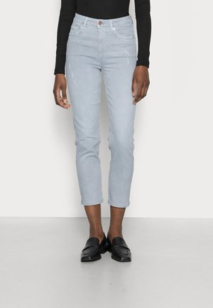 CROPPED SLIM - Liibuvad teksad - light blue