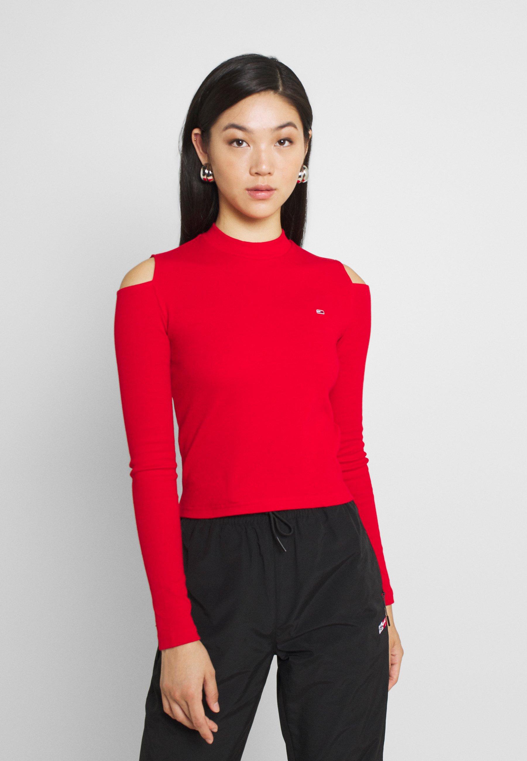 Women CROP CUT OUT - Long sleeved top