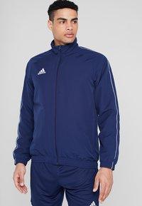 adidas Performance - CORE 18 - Training jacket - dark blue/white - 0