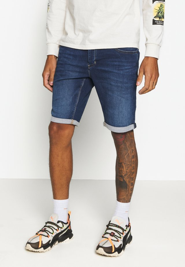 JASON  - Denim shorts - dark-blue denim