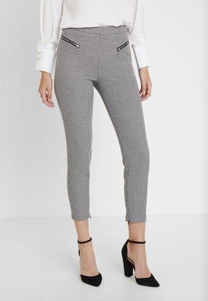 CARRIE PANTS - Kalhoty - black/white