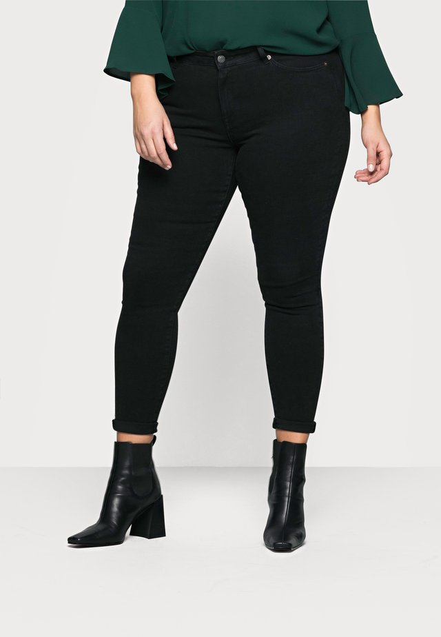 SLFTIA SKINNY   - Jeans Skinny Fit - black denim