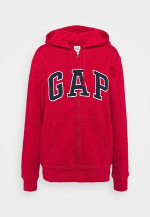 ARCH - Zip-up hoodie - crimson red