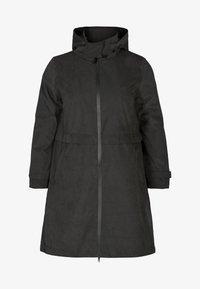 Zizzi - VERSTELLBARER - Waterproof jacket - black - 3