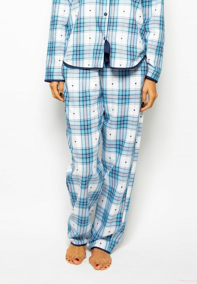 Pyjama bottoms - nvy heart dob chks