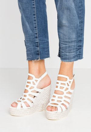 SOFIA - High heeled sandals - blanco