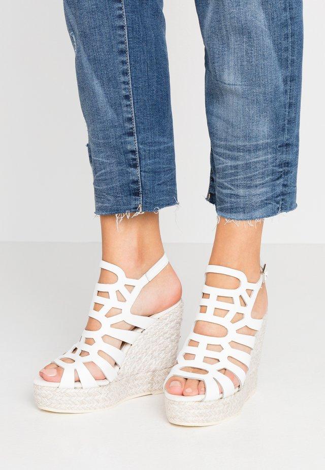 SOFIA - High heeled sandals - blanco