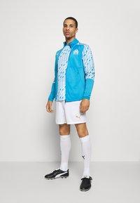 Puma - OLYMPIQUE MARSAILLE STADIUM JACKET - Club wear - bleu azur/puma white - 1