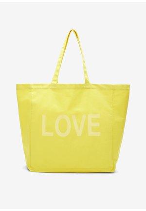 Tote bag - yellow love print
