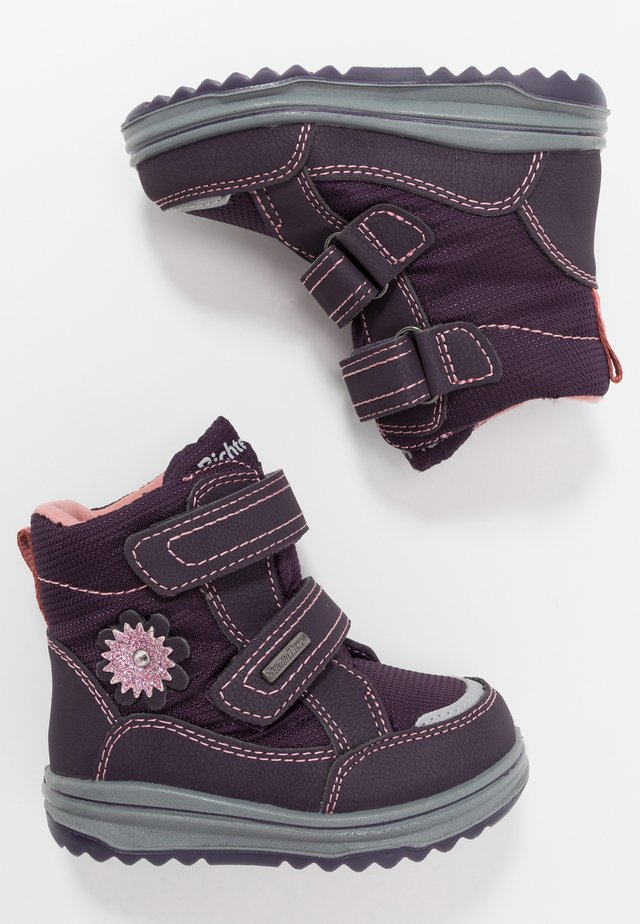 Winter boots - aubergine/coquille