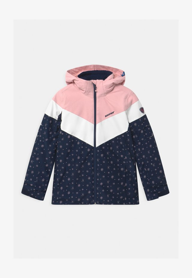 ALJA - Snowboard jacket - dark blue/light pink/white