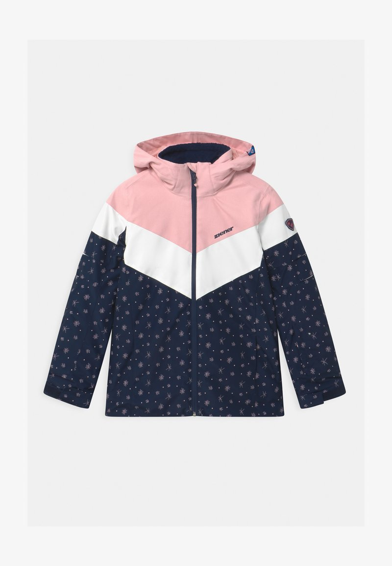 Ziener - ALJA - Snowboardjakke - dark blue/light pink/white