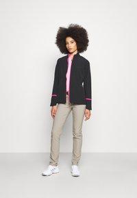 Callaway - FULL ZIP JACKET - Waterproof jacket - caviar/lilac rose pop - 1