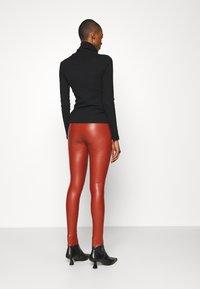 TOM TAILOR DENIM - Leggings - Trousers - rust orange - 2
