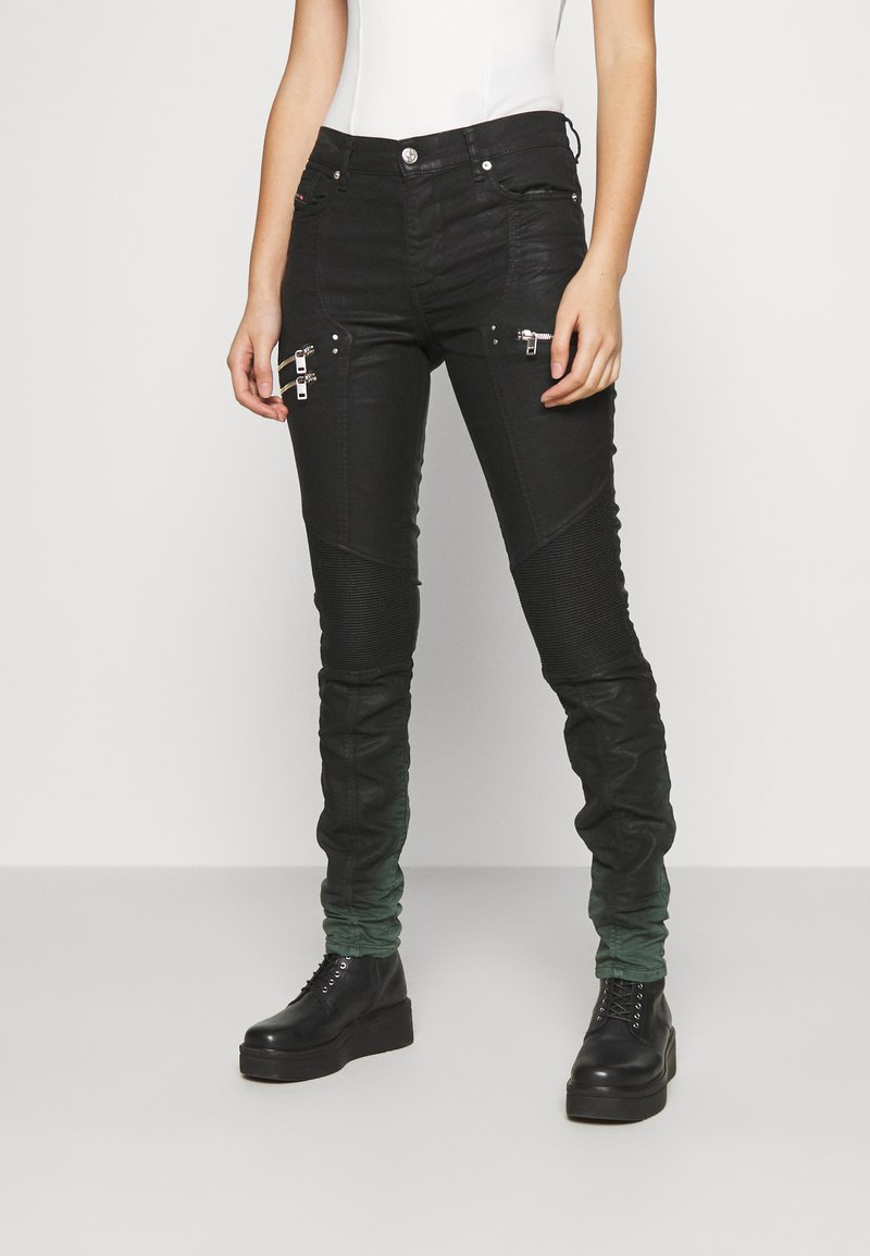 Diesel - D-OLLIES-BK-SP-NE JOGGJEANS - Slim fit jeans - black