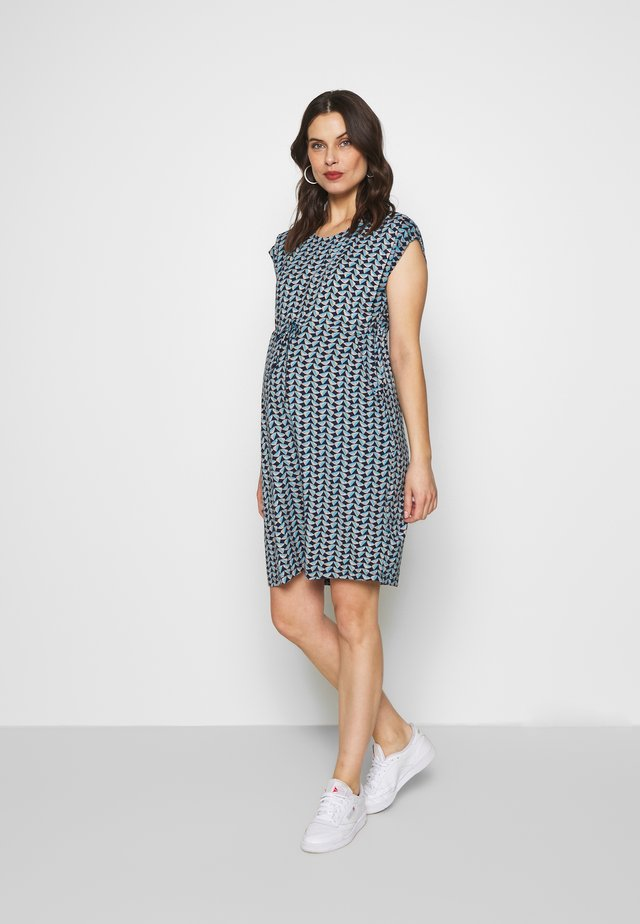 GEO MATERNITY AND NURSING TUNIC DRESS - Trikoomekko - duck egg