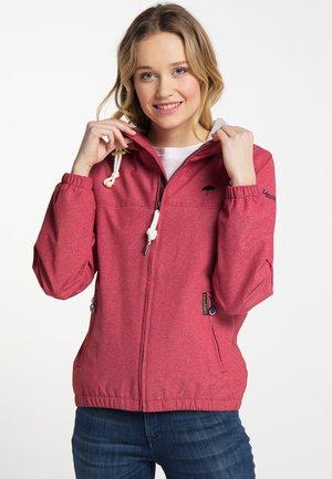 Waterproof jacket - red melange