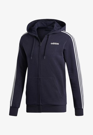 ESSENTIALS 3 -STREIFEN - Sweatjacke - dark blue
