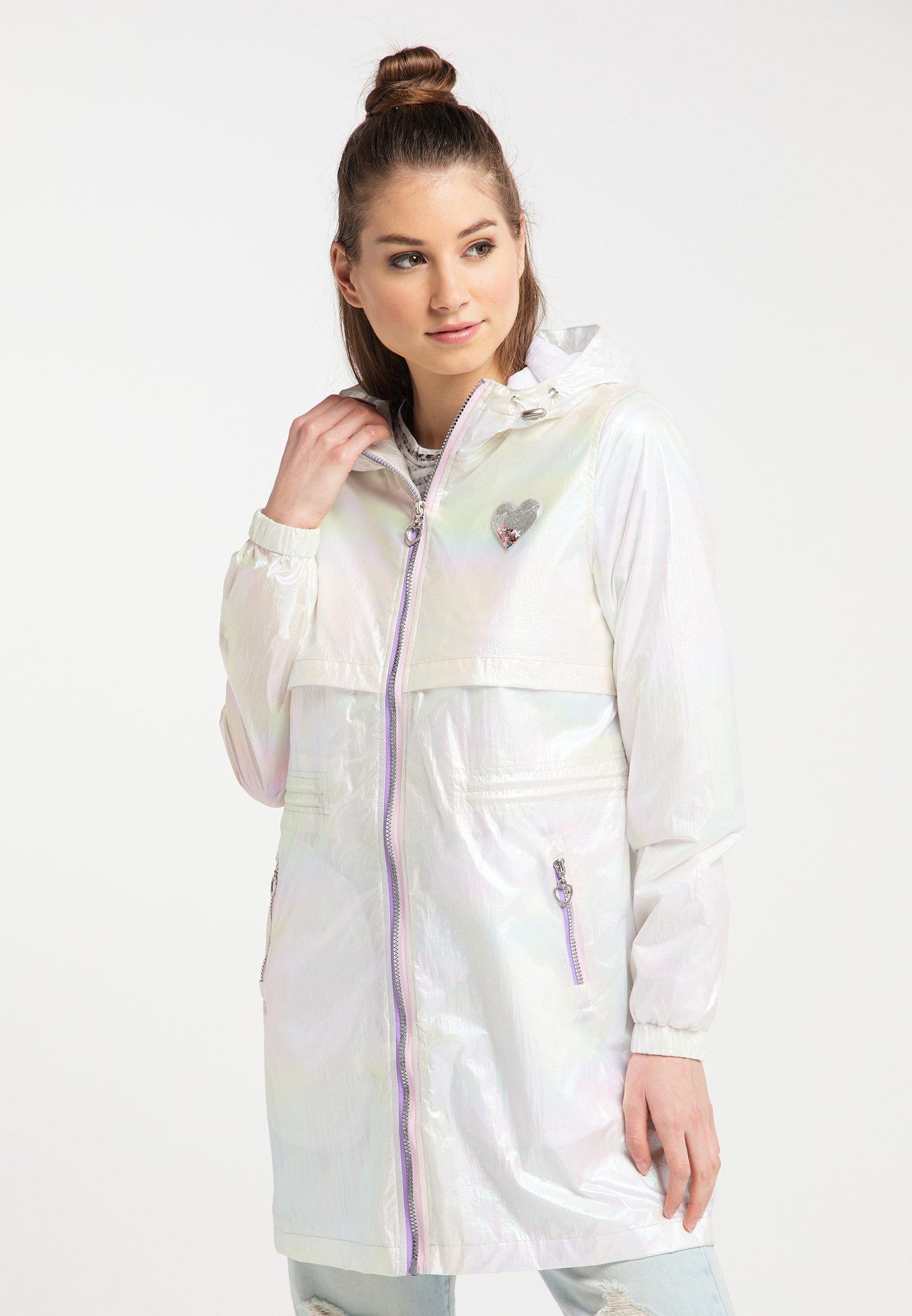 Original Women's Clothing myMo HOLOGRAPHIC Parka white A825f48iy
