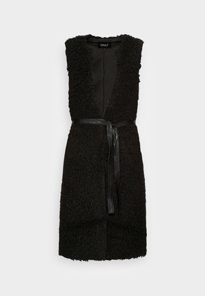 ONLLONE LONG WAISTCOAT - Vest - black