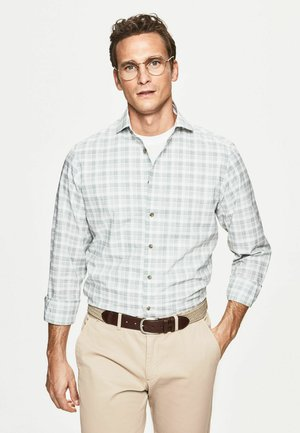Shirt - olive/white