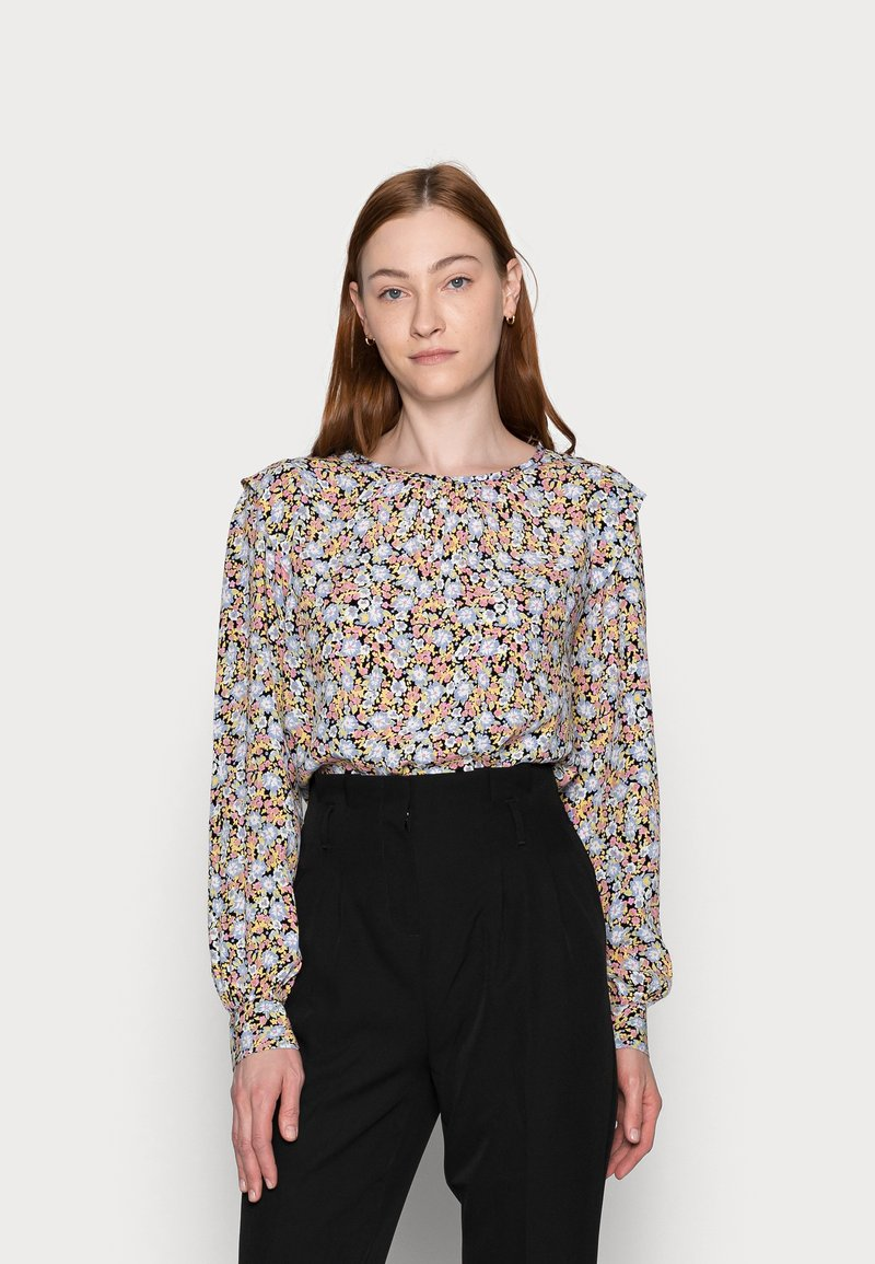 PIECES Tall - PCINIS TOP - Long sleeved top - black/blue