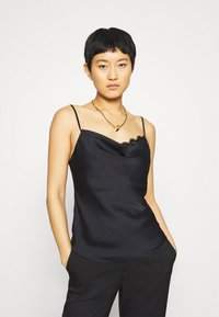 Abercrombie & Fitch - CHASE TRIM COWL CAMI  - Top - black - 0