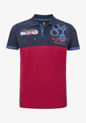 Polo shirt - dunkelblau rot
