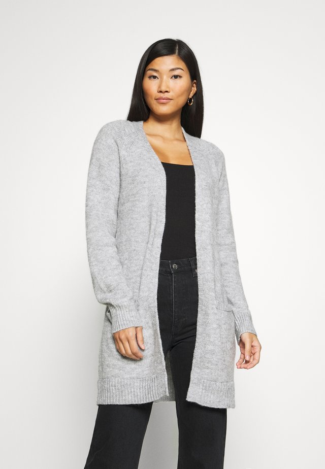 BASIC- SPONGY POCKET CARDIGAN - Cardigan - light grey