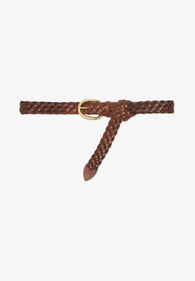 Pásek - tabacco/oro