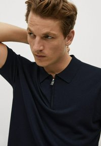 Mango - Polo shirt - marineblauw - 3