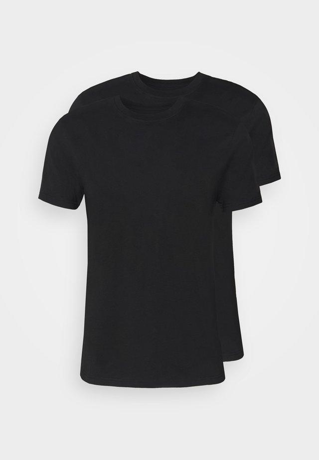 CREW NECK UNDERSHIRT 2 PACK - Undershirt - black