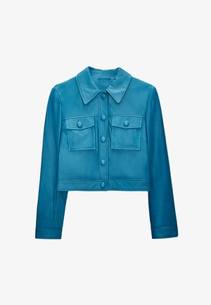 Kožená bunda - blue
