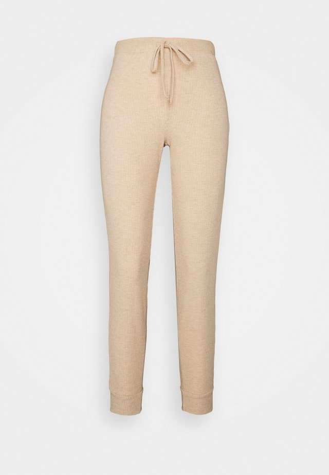 ONLZOE LONG PANTS - Joggebukse - beige