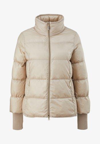 MIT RIPPBÜNDCHEN - Down jacket - ivory