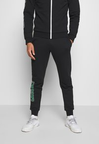 Lacoste Sport - TRACKSUIT - Tracksuit - black/green/white - 3