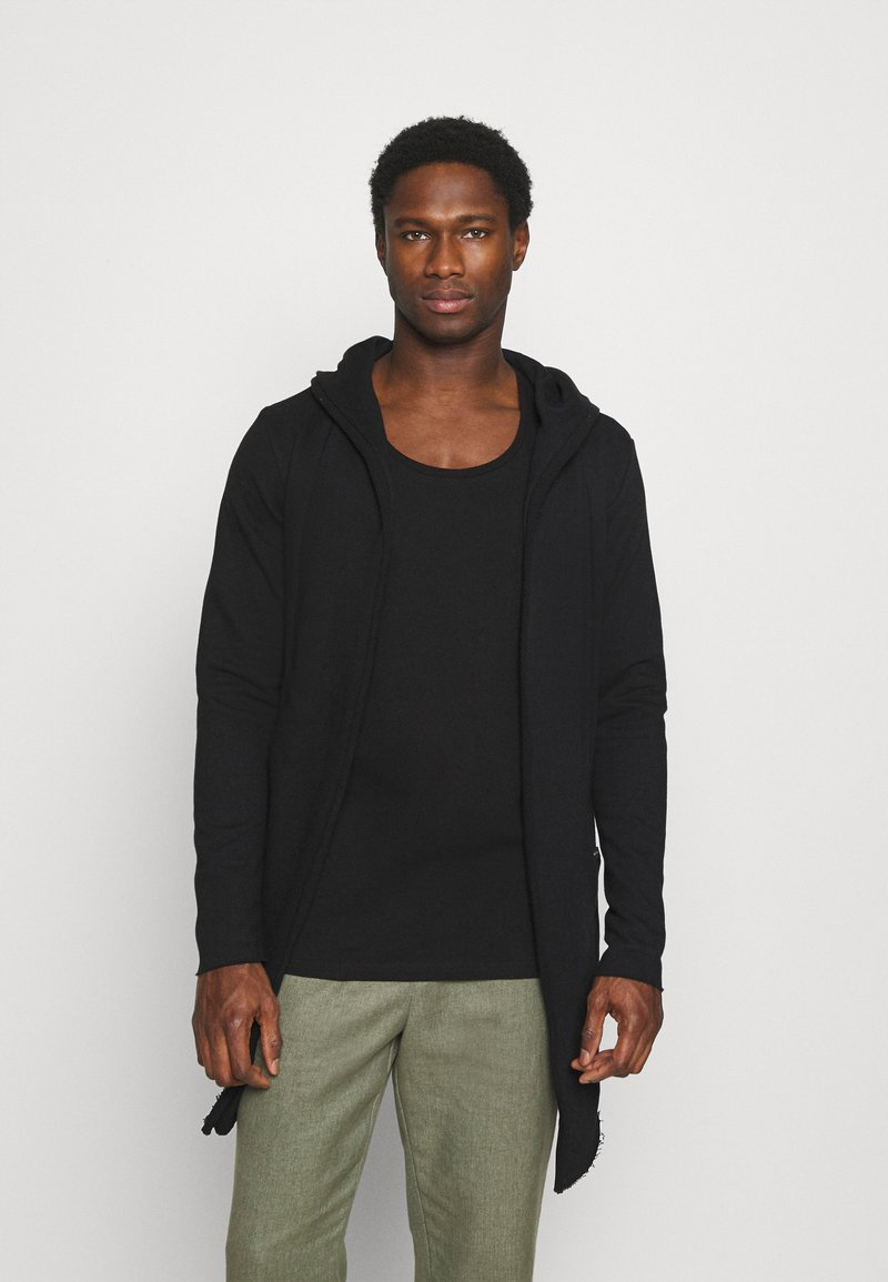 INDICODE JEANS - DAVIN - Zip-up hoodie - black