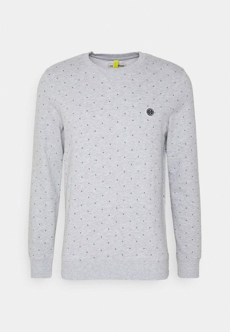 TOM TAILOR DENIM - CREWNECK WITH CUTLINES - Sweatshirt - grey